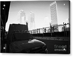 Fdny Fire Tender Parked Outside Rebuilt Reoccupied Engine 10 Ladder 10 Firehouse Liberty Street Acrylic Print by Joe Fox