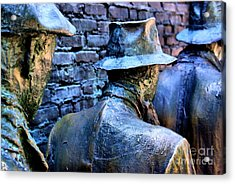 Acrylic Print featuring the photograph Franklin Roosevelt   Memorial Washington Dc by John S