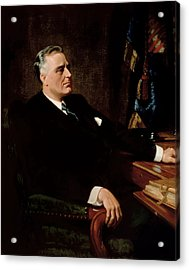Fdr Official Portrait  Acrylic Print by War Is Hell Store