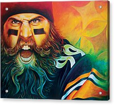 Fear Da Beard Acrylic Print by Scott Spillman