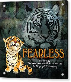 Fearless Acrylic Print by Evie Cook