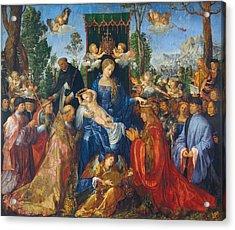 Feast Of Rose Garlands Acrylic Print by Albrecht Durer