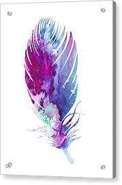 Feather 6 Acrylic Print by Luke and Slavi
