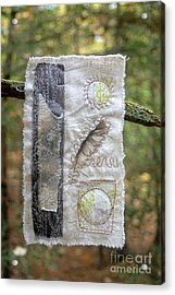 Feather In The Forest Acrylic Print by Linda Marcille