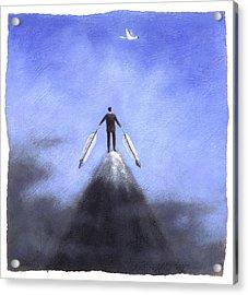 Feather Man Acrylic Print by Steve Dininno