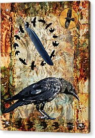 Feather Of Remembering Acrylic Print by Judy Wood