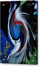 Feather Whirl Acrylic Print by Randy Pollard