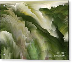 Feathered Hills And Valleys Acrylic Print by Patricia Kay