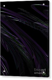 Feathered Acrylic Print by Patricia Kay