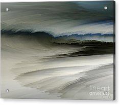 Feathered Seascape Acrylic Print by Patricia Kay
