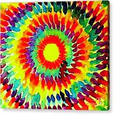 Feathered Sunshine Acrylic Print by Hazel Holland
