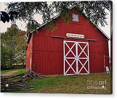 Featherstone Red Barn Acrylic Print