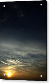 Feathery Clouds Acrylic Print by Rajiv Chopra