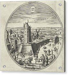 February, Adriaen Collaert, Hans Bol, Hans Luyck Acrylic Print by Adriaen Collaert And Hans Bol And Hans Luyck