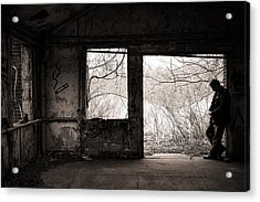 February - Comfortable Seclusion - Self Portrait Acrylic Print by Gary Heller