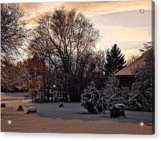 February Evening Light Acrylic Print by Aliceann Carlton