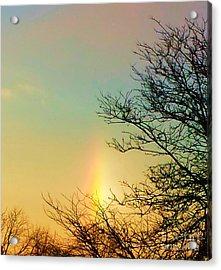 February Sundog Acrylic Print