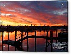 February Sunrise Acrylic Print by Butch Lombardi