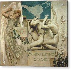 Fede, Mondo Latino Oceanico, 1904 Oil On Canvas Acrylic Print