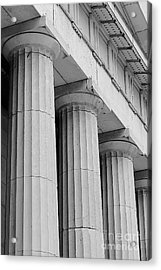 Federal Hall Columns Acrylic Print by Jerry Fornarotto