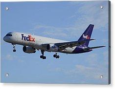 Fedex Express Boeing 757-224 N942fd Phoenix Sky Harbor February 24 2015 Acrylic Print
