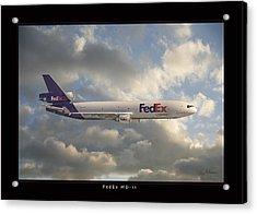 Fedex Md-11 Acrylic Print by Larry McManus