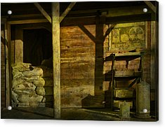 Feed Mill Store Acrylic Print by Randall Nyhof