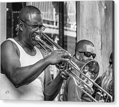 Feel It - New Orleans Jazz Bw  Acrylic Print by Steve Harrington
