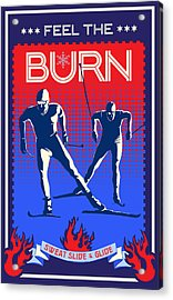 Acrylic Print featuring the painting Feel The Burn Xski by Sassan Filsoof