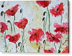 Feel The Summer 1 - Poppies Acrylic Print by Ismeta Gruenwald