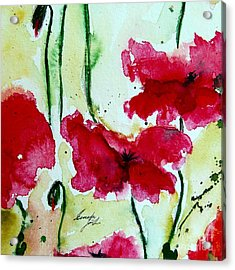 Feel The Summer 2 - Poppies Acrylic Print by Ismeta Gruenwald
