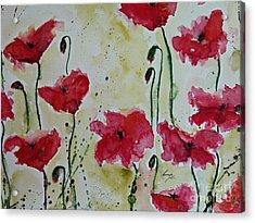 Feel The Summer - Poppies Acrylic Print by Ismeta Gruenwald