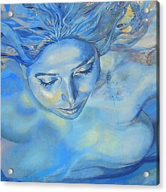 Acrylic Print featuring the photograph Feeling Blue by Ramona Johnston