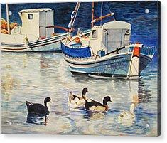 Feeling Ducky Acrylic Print by Terri  Meyer