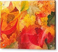 Feeling Fall Acrylic Print by Irina Sztukowski
