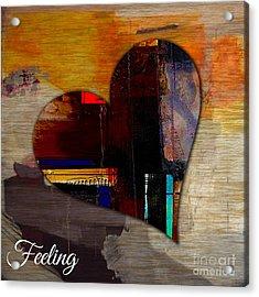 Feeling Acrylic Print by Marvin Blaine
