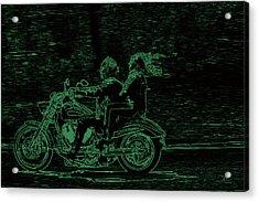 Feeling The Ride Acrylic Print by Karol Livote