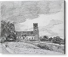 Feering Church, 1814 Acrylic Print