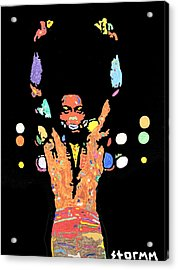 Fela Kuti Acrylic Print by Stormm Bradshaw