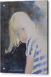 Felicia Acrylic Print by John  Svenson
