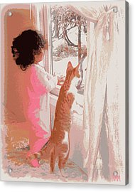 Feline Friend Acrylic Print by Heidi Manly