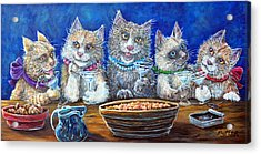 Felines After Five Acrylic Print
