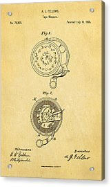 Fellows Tape Measure Patent Art 1868 Acrylic Print by Ian Monk