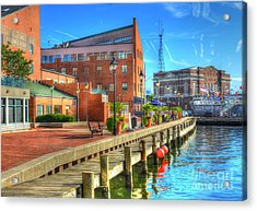 Fells Point Dock Acrylic Print