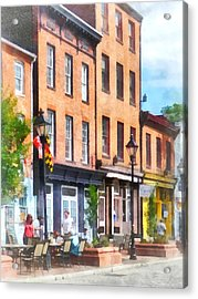 Fells Point Street Acrylic Print by Susan Savad