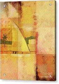 Felucca Impression Acrylic Print by Lutz Baar