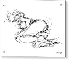 Female-erotic-sketches-8 Acrylic Print