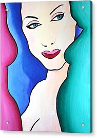 Female Face Shapes And Forms Acrylic Print