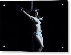 Female Jesus II Acrylic Print by Ramon Martinez