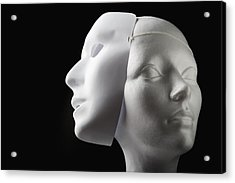 Female Mannequin And Mask Acrylic Print